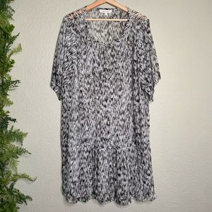 Two by Vince Camuto Drop Waist Dress Sheer Size XL